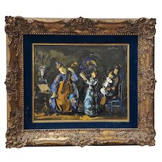 """Vintage Oil Painting """"Music Performance"""" by Jerner"""