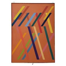 Tom Patrick (American, 20th c.) Vintage Geometric Abstract on Canvas c.1970s