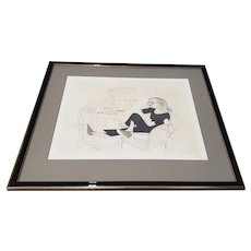 """Al Hirschfeld """"Tallulah Bankhead"""" Hand Signed Limited Edition Etching"""
