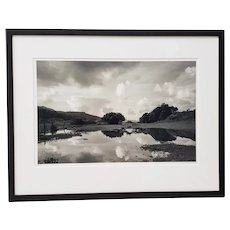 "Marty Knapp ""Tomales Bay Wetlands"" Black and White Photograph Signed c.2018"