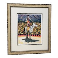 """Fine Limited Edition Framed Color Lithograph """"Cirque"""" by King c.2004"""