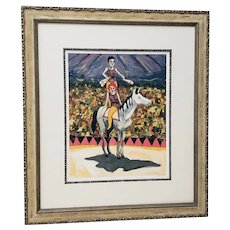 "Fine Limited Edition Framed Color Lithograph ""Cirque"" by King c.2004"