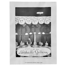 Charles Addams (1912-1988) Signed Exhibition Poster c.1976
