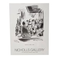 Whitney Darrow (1909-1999) Signed Exhibition Poster c.1978