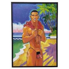 "Douglas Simonson (American) ""Time for a Swim"" Original Acrylic Painting"