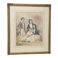 John Collingham Moore (England, 1829-1880) Four Children c.1860s