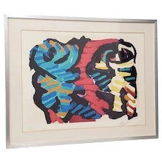 Karel Christiaan Appel  (1921 - 2006) Untitled Abstract Color Lithograph
