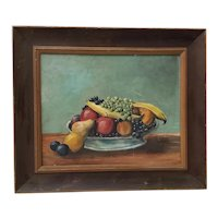"Arthur Dow ""Fruit Still Life"" Original Oil Painting c.1920s"