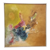 Classic 70's Abstract Oil Painting by David Pierson c.1971