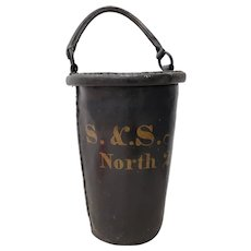 Antique 19th Century Leather Fire Bucket