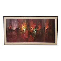 Joseph Henry Feuerborn (1929-2011)  Mid-Century Modern Abstract Painting c.1950s