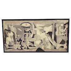 "Large Scale Vintage ""Guernica"" Original Charcoal and Graphite on Paper c.1960s"