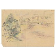 Ilse Beate Jakel (1907-1982) Original Drawing