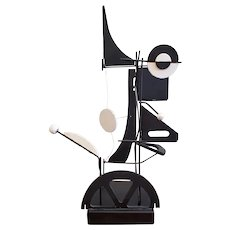 Mid Century Modern Black & White Kinetic Art Sculpture c.1950s to 1960s