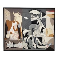 "Vintage Oil Painting  ""Remnants of Guernica"" by Donna c.1970s"