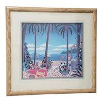 """Thomas McKnight """"Puerto Vallarta"""" Framed Lithograph"""