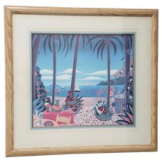 "Thomas McKnight ""Puerto Vallarta"" Framed Lithograph"