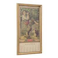 Vintage 1932 Coca-Cola Norman Rockwell Art Wall Calendar with September Page