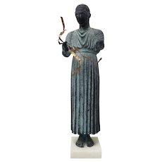 Verdigris Bronze Sculpture w/ Copper