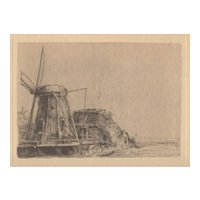 "Vintage Rembrandt Etching ""The Mill"" c.1940's"