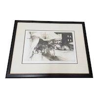 "John Winkler (California, 1890-1979) ""Night in Chinatown"" Original Etching c.1936"