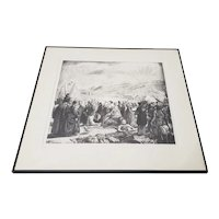 "George Bellows (1882-1925) ""Irish Fair"" Original Signed Lithograph c.1923"