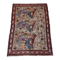 Early 20th Century Hand Knotted Rug with Twelve Figures