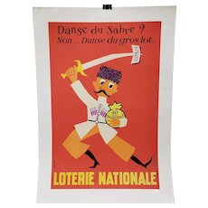 "French National Lottery ""Jackpot Dance"" Lithograph Poster c.1957"