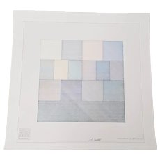 """Sol LeWitt """"Four Color Drawing"""" Signed Lithograph c.1970"""