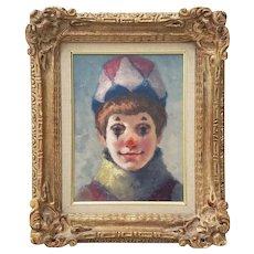 """Philippe Alfieri  (1921 - 2009) """"Young Harlequin"""" Original Oil Portrait c.1970s"""
