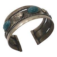 Vintage Egyptian Revival Cuff Bracelet c.1970s