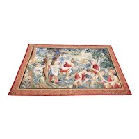 Large Italian School Tapestry with Playful Children