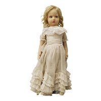 Vintage Lenci Doll with Lace Dress
