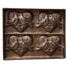 "Antique T.C. Weygandt Co. ""Love Birds"" Chocolate Mold"