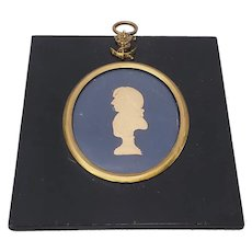 Early 19th Century Raised Relief Silhouette Portrait of Lord Nelson c.1805