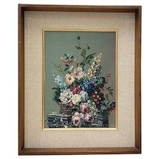 Louis Emiel Chappel (1888-1963) Floral Still Life Oil Painting c.1940s