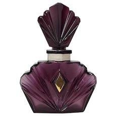 Large Scale Geometric Purple Glass Perfume Bottle