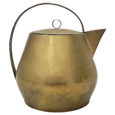 Hayno Focken (Germany, 1905-1968) Rare Brass Teapot w/ Lid c.1930