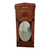 Early 19th Century Walnut & Mahogany Biedermeier Mirror c.1830s