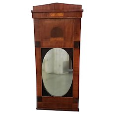 Early 19th Century Walnut & Mahogany Biedermeier Mirror c.1830s