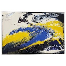 Richard Mann (American, 20th c.) Abstract Expressionist Acrylic Painting c.1970s