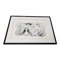 "Al Hirschfeld ""Phantom of the Opera"" Hand Signed Lithograph Printers Proof c.1988"