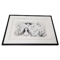"Al Hirschfeld ""Phantom of the Opera"" Hand Signed Lithograph Printers Proof c.1988"