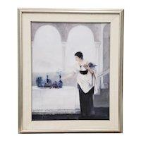 """Arrangement in Blue"" Original Oil Painting by Joseph c.1989"