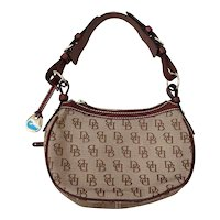 Dooney & Bourke Monogram Purse w/ Leather Trim