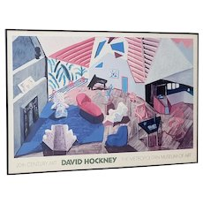 David Hockney Metropolitan Museum of Art Framed Poster