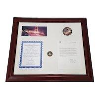 Framed Pablo Sandoval FBI Recognition Letter c.2011