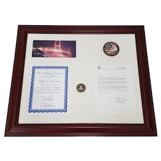 Framed Pablo Sandoval FBI Recognition Letter c.2011