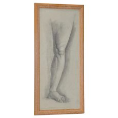 Vintage Graphite Study of a Leg & Foot c.1960s
