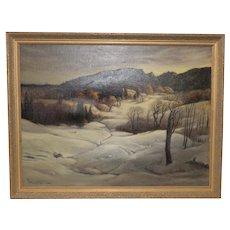 Paul Lauritz (Norway / California, 1889-1975) Winter Landscape c.1950s